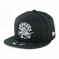 Toronto Raptors New Era 9Fifty Black & White Adjustable Snapback Hat