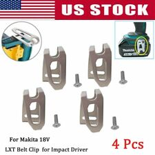 4x BELT CLIP HOOK & SCREW FOR MAKITA 18V LXT CORDLESS DRILLS IMPACT DRIVERS