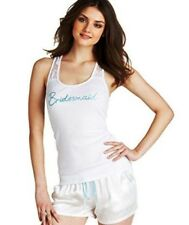 Betsey Johnson Medium Bridesmaid Racer Back Lace Tank White $28