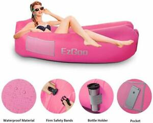 Inflatable Lounger Waterproof Air Lounger Sofa w/Anti-Air Leaking Design Hammock