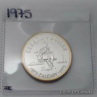 1975 Canada Silver Dollar UNCIRCULATED Specimen Coin Calgary 1875 #coinsofcanada