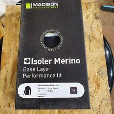 Madison Black Isoler Merino 1-4 Zip Womens Long Sleeved Baselayer Top