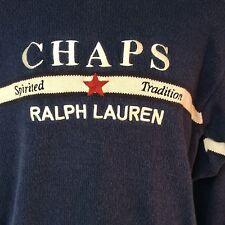 VTG Chaps Ralph Lauren Sweater Hand Framed Spirited Tradition Star Embroidered L