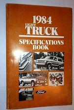 1984 FORD F150 F250 F350 RANGER BRONCO BRONCO 2 ECONOLINE SPECIFICATIONS MANUAL