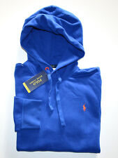 NWT Men's Polo Ralph Lauren Performance Pullover Hoodie Sweatshirt, Blue, Large