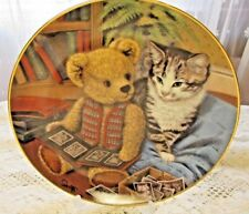 Forebears, Franklin Mint Collectable Plate, Sue Willis, Teddy Bear, Cat Limit Ed
