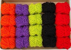 Halloween Yarn Wool Bundle Knitting Crochet Pompom Bunting Crafts DK Job Lot