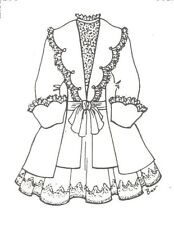 """Jacket Coat & dress sewing Pattern fits 17 18""""  doll outfit Antique Design  515"""