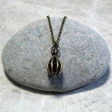 Garnet Birthstone Necklace January Pendant Jewelry Antique Brass