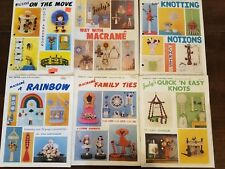 Lot of 6 Vintage Macrame Books Assorted Patterns Home Decor Spice & Wine Racks