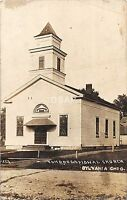 B29/ Sylvania Ohio Postcard Real Photo RPPC 1917 Congregational Church
