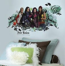 DISNEY DESCENDANTS ISLE OF THE LOST Wall Decals Room Decor Stickers EVIE MAL NEW