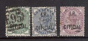 Great Britain #O2 - #O4 VF Used