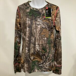 Under Armour M Realtree Camo Long-Sleeve Fitted T-Shirt Scent Control NEW