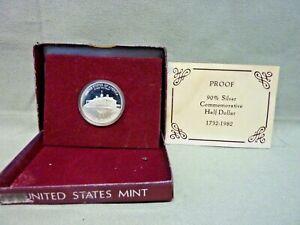 USA - 1982 George Washington Half Dollar 90% Silver Proof - COA - Boxed