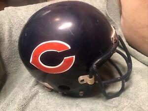 Vtg 1970s CHICAGO BEARS Game Worn Used Football Helmet Gladiator Recer