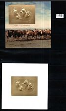 / MONGOLIA 1993 - MNH - GOLD - CAMELS, DOGS, CATS