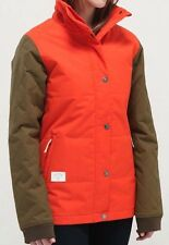 HOLDEN Women's KLARA Snow Jacket - TomatoeOrange/Olive - Medium - NWT