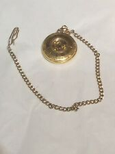 Rapport Gold Plated Half Hunter Mechanical Movement Pocket  Watch  - Working