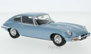 WHITE BOX 124039 JAGUAR E TYPE diecast model road car Blue metallic 1:24th scale