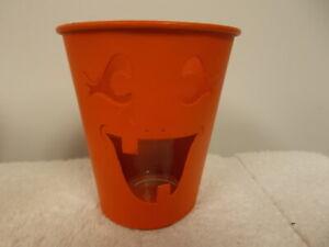 1999 Bath & Body Works Halloween Jack O Lantern Small Candle Holder Luminary