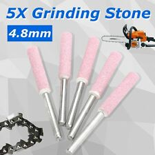 "5Pcs 3/16"" 4.8mm Quality Sharpening Grinding Stones for 12V Chainsaw Sharpener"