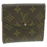 LOUIS VUITTON Monogram Porte Monnaie Billets Wallet M61660 LV Auth 13223