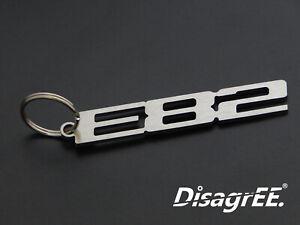 """Schlüsselanhänger """"E82"""" -Edelstahl gebürstet- für BMW 1er coupe 120 125 130 135"""