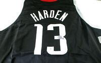 JAMES HARDEN / AUTOGRAPHED HOUSTON ROCKETS BLACK CUSTOM BASKETBALL JERSEY / COA