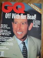 GQ US 4/1993 Prince Charles TIZIANO MAGNI Charlie Watts FABRIZIO GIANNI Mesdon