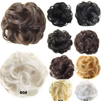 Women Curly Chignon With Rubber Band Synthetic Scrunch Wrap Hair Ring Hairpieces