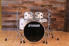 SONOR ESSENTIAL FORCE BIRCH STAGE 3, 4 PIECE DRUM KIT, CREME WHITE