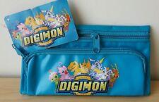 Astuccio Digimon Digital Monster Scuola Case School Blue Nuovo New