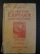 Les Débuts de l'Epoque Contemporaine - H.Méthivier - 1848