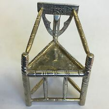 Antique Solid Silver Miniature Chair Country Turners Style Levi Salaman 1923