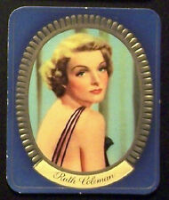 Ruth Coleman 1937 Garbaty Passion Film Favorites Embossed Cigarette Card #150