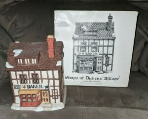 Dept 56 GOLDEN SWAN BAKER Original Shops of Dickens Village 6515-3 Rare retired