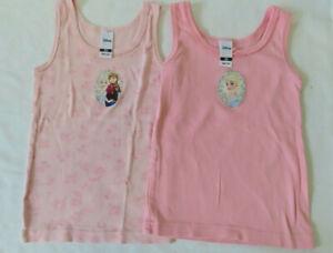 Zwei Mädchen Unterhemden, Elsa, rosa  Gr. 98-104