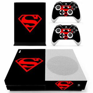 Xbox One S Console Skin Sticker Decal Superman + 2 Controller Skins