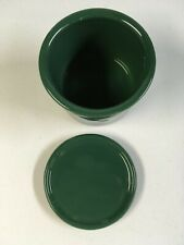 Longaberger Pottery 1 Pint Crock with Lid/Coaster-Ivy