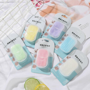 50pcs/box Soap Paper For Outdoor Travel Portable Goods Disposable Hand Wash MN