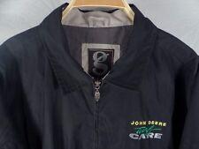 Mens Gear for Sports John Deere Turf Care Black Full-Zip Jacket Size M Medium