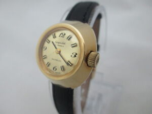 NOS NEW SWISS VINTAGE GOLD PLATED MECHANICAL WOMEN'S GIGANDET ANALOG WATCH 1960'