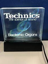 Vintage Technics RARE Light Up Display Dealer Sign