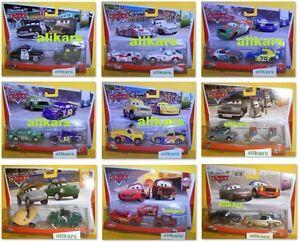 2-pack Disney Pixar Cars Giocattolo Mattel 1:55 Autos Modellini Metallo Die-cast