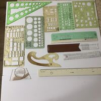 Mixed Lot VTG Architectural Drafting Templates Calculators Tools Rapid Timely
