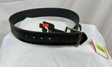 New Gould Amp Goodrich Leather Police Duty Belt Basket Weave Size 30 Police Gear