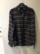 Fred Perry long sleeved shirt Medium. Black and white check. Excellent condition