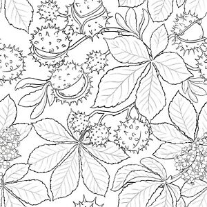 Background - Wallpaper - Leaves - Chestnuts Unmounted Clear Stamp Approx 60x60mm