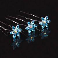 10pcs Ladies Women Wedding Bridal Snowflake Rhinestone Crystal Hair Pins Clips